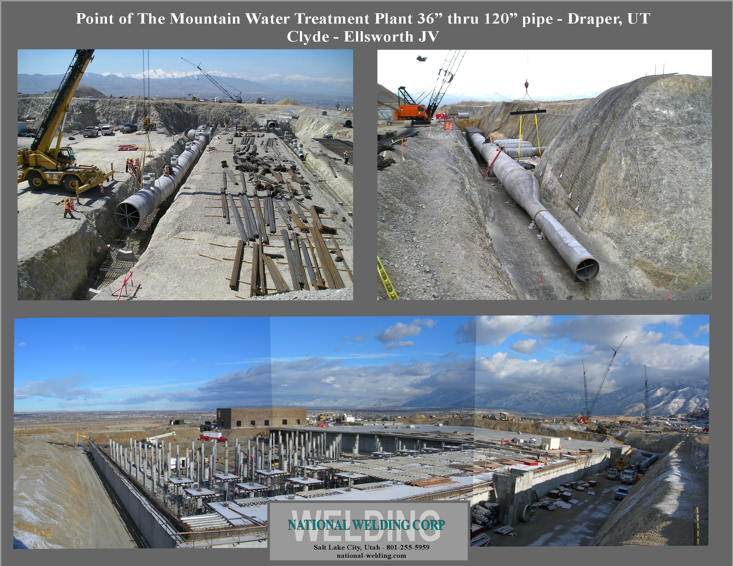 "Point of the Mountain Water Treatment 36"" thru 120"" pipe — Draper, UT"